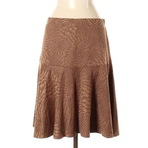 Melissa Paige Skirts - Melissa Paige Brown Faux Suede Skirt New